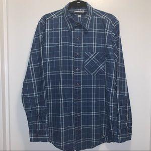 American apparel men's plaid button down size L